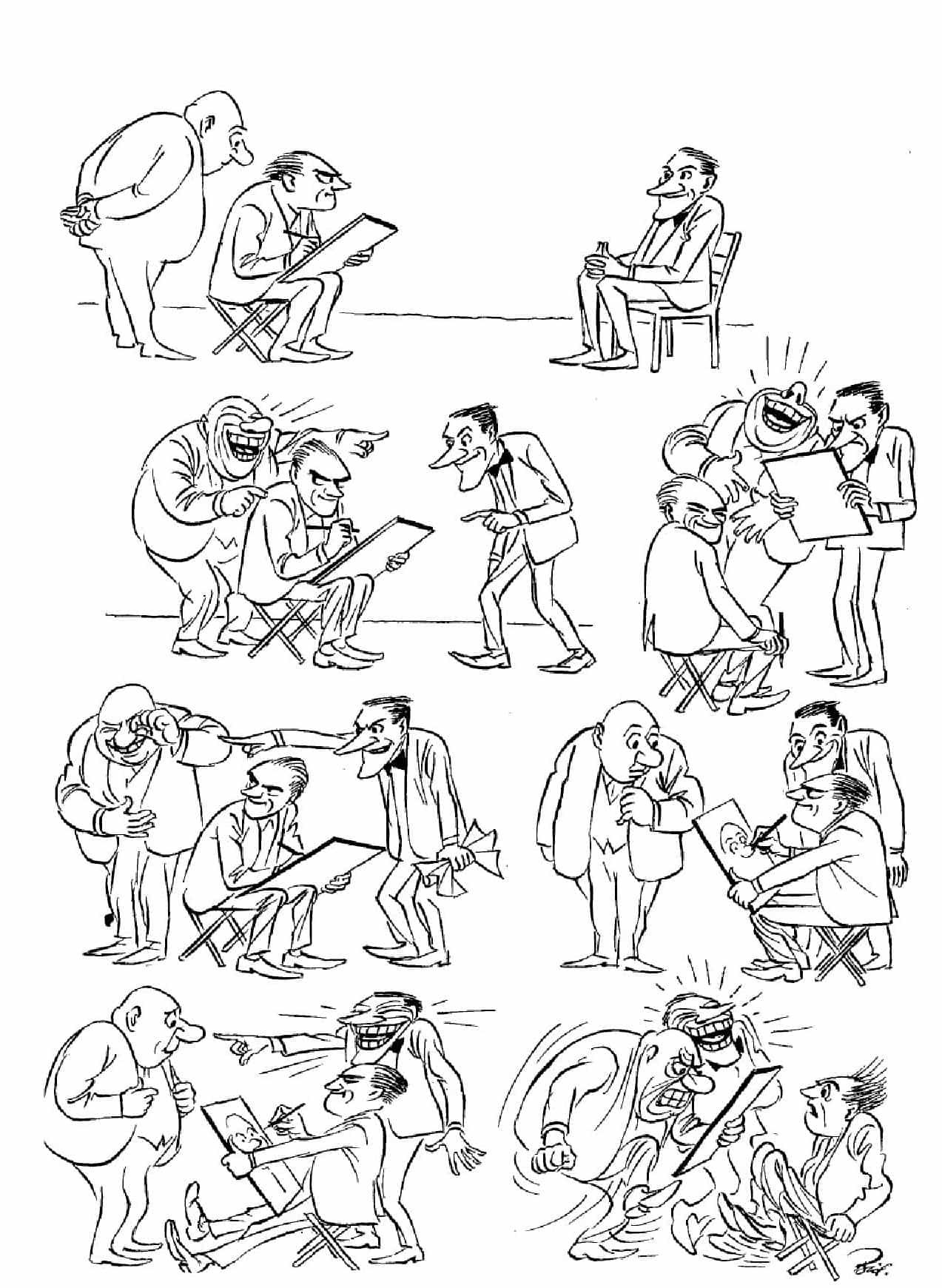 Херлуф Бидструп - Карикатура