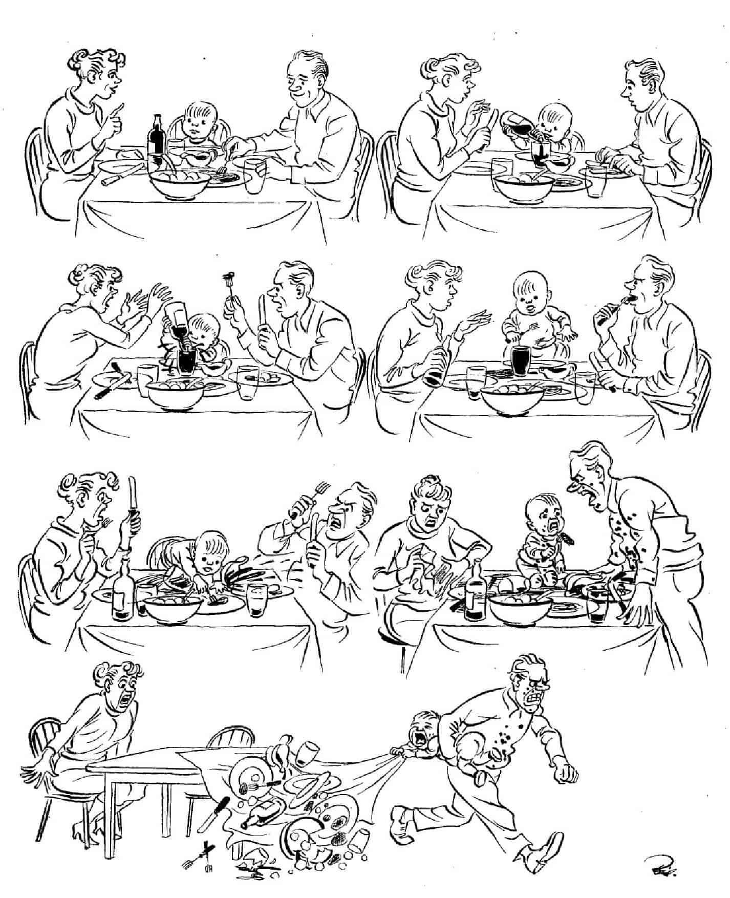 Херлуф Бидструп - За обедом