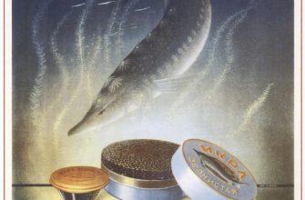 Советские плакаты - Икра осетровых рыб