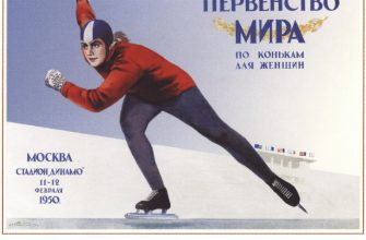 Советские плакаты - Первенство мира по конькам для женщин